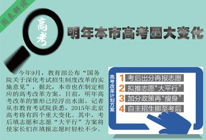 明年北京高考四大变化:将出分后报志愿