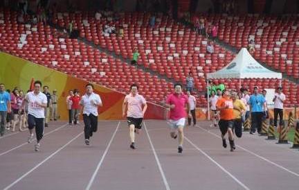 华图在鸟巢举办首届运动会