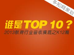 【特别策划】谁是TOP 10?教育行业营收摸底之K12篇