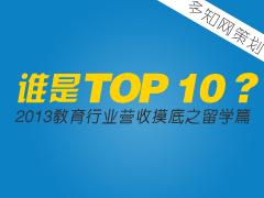 【特别策划】谁是TOP 10?教育行业营收摸底之留学篇