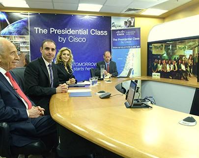 以色列总统佩雷斯在线讲授公民课程 万人同步参与