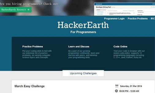 参加在线编程比赛拿名企Offer?HackerEarth可以帮你!